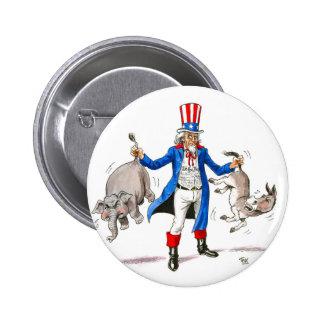 Uncle Sam 3 2 Inch Round Button
