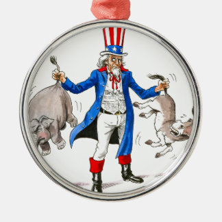 Uncle Sam 3 Metal Ornament