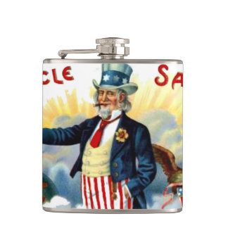 Uncle Sam 4th of July Patriotic Hip Flask
