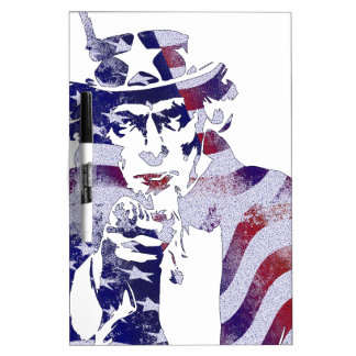 Uncle Sam America USA National Flag Independence D Dry-Erase Boards