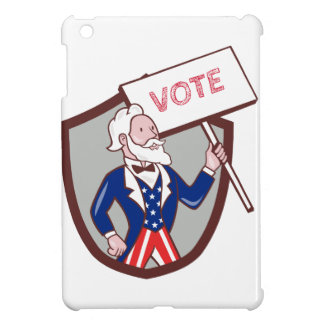 Uncle Sam American Placard Vote Crest Cartoon Case For The iPad Mini