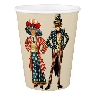 UNCLE SAM AND AUNT SAMANTHA PAPER CUPS