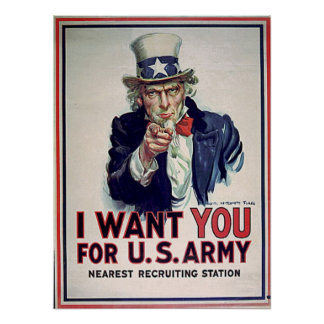 Uncle Sam Army 1915 Print