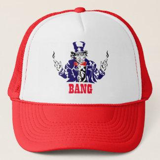 Uncle Sam Bangs Trucker Hat