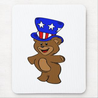 Uncle Sam Bear Mouse Pad