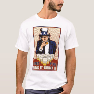 Uncle Sam Beer Pong T-Shirt