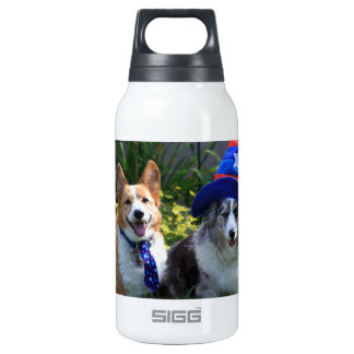 Uncle Sam & Betsy Ross Insulated Water Bottle