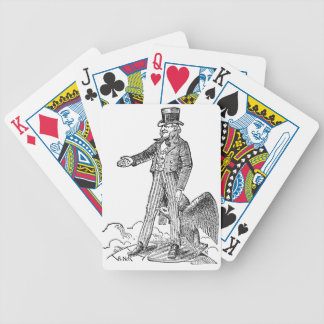 Uncle Sam Bicycle Playing Cards