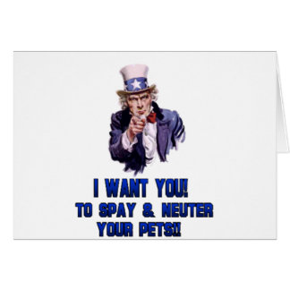 uncle sam blue greeting card
