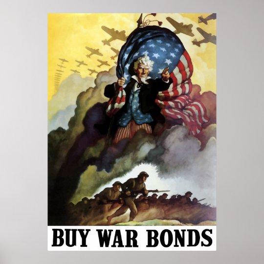 Uncle Sam -- Buy War Bonds Poster