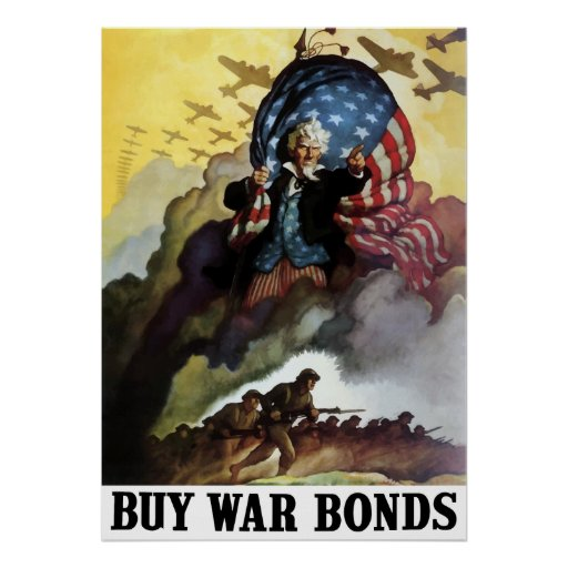 Uncle sam buy war bonds posters zazzle for Buy cheap posters online