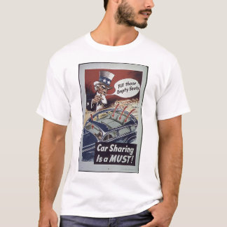 Uncle Sam Car Sharing WW1 Propaganda T-Shirt