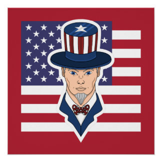 Uncle Sam cartoon Poster