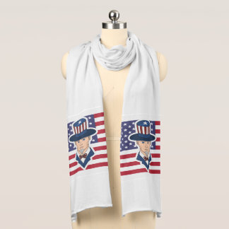 Uncle Sam cartoon Scarf