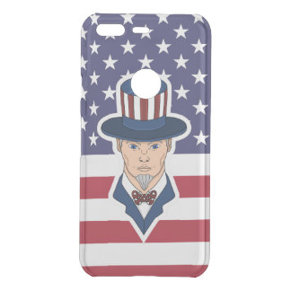 Uncle Sam cartoon Uncommon Google Pixel Case