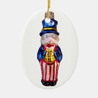 Uncle Sam Ceramic Ornament