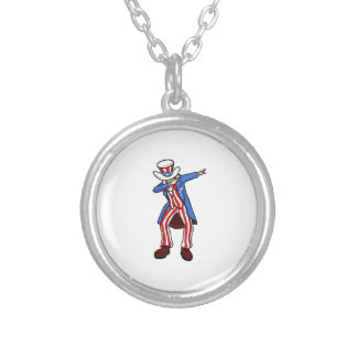 Uncle Sam Dab Silver Plated Necklace