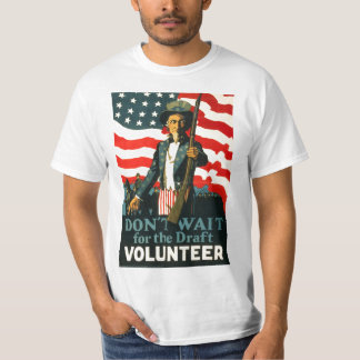 Uncle Sam: Don't Wait for Draft WWI Shirt