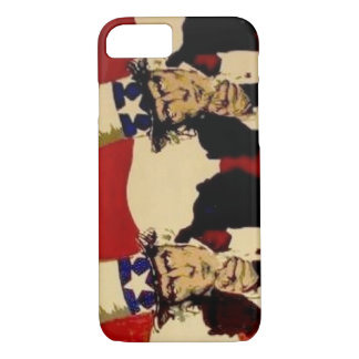 Uncle Sam Double painting on a Cell Phone Case