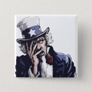 Uncle Sam Facepalm 2 Inch Square Button