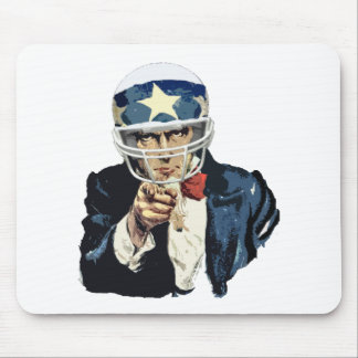 uncle sam football mouse pad