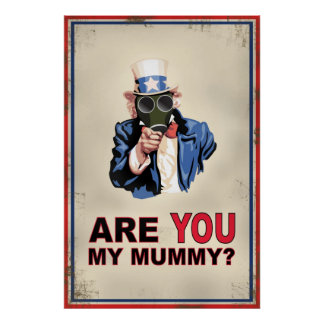 Uncle Sam Gas Mask Poster