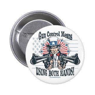 Uncle Sam Gun Control Button