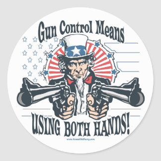 Uncle Sam Gun Control Sticker
