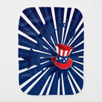 Uncle Sam hat and stars Burp Cloth