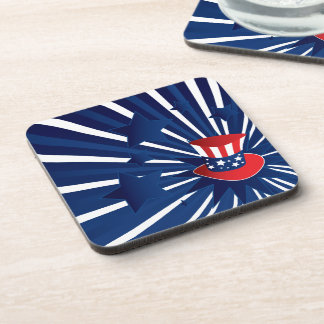 Uncle Sam hat and stars Coaster