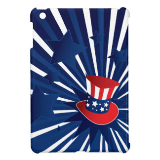 Uncle Sam hat and stars iPad Mini Cover