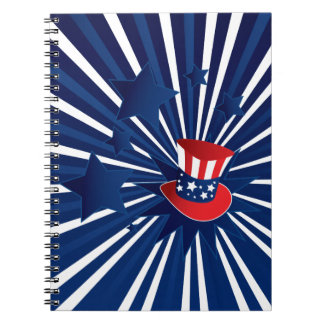 Uncle Sam hat and stars Notebooks
