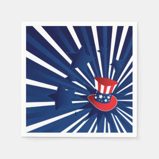 Uncle Sam hat and stars Paper Napkin