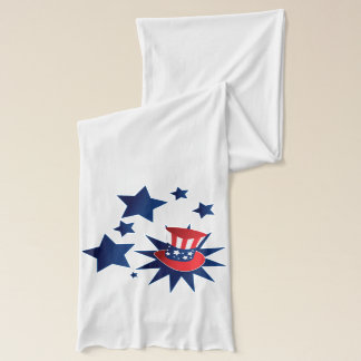 Uncle Sam hat and stars Scarf