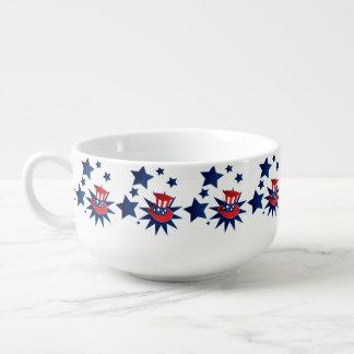 Uncle Sam hat and stars Soup Mug