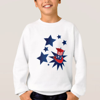 Uncle Sam hat and stars Sweatshirt