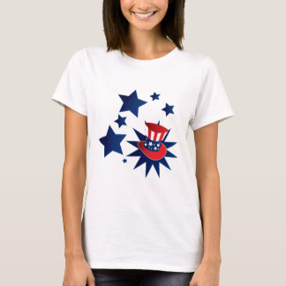 Uncle Sam hat and stars T-Shirt