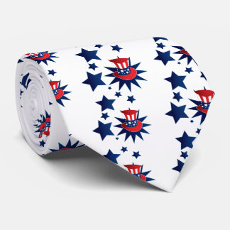 Uncle Sam hat and stars Tie