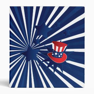 Uncle Sam hat and stars Vinyl Binder