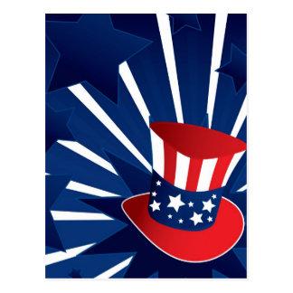 Uncle Sam hat Postcard