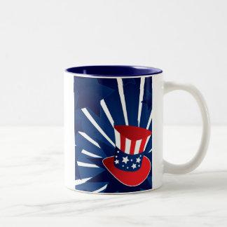 Uncle Sam hat Two-Tone Coffee Mug