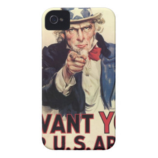 Uncle Sam - I Want You iPhone 4 Case
