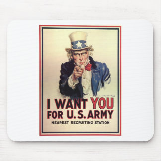 Uncle Sam - I Want You Mouse Pad
