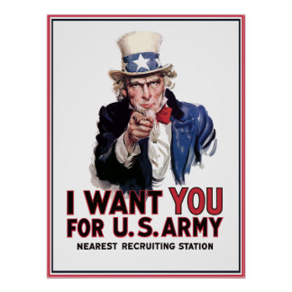 "Uncle Sam ""I Want You"" Poster"