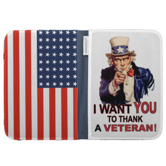 Uncle Sam I Want You To Thank A Veteran Kindle Kindle Cases