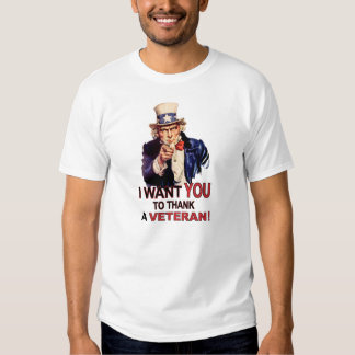 Uncle Sam I Want You To Thank A Veteran T-Shirt