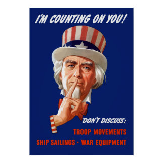 Uncle Sam -- I'm Counting On You! Print