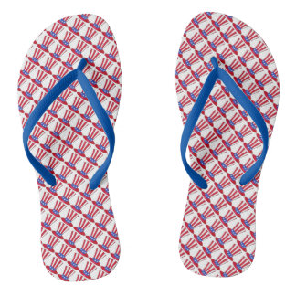 Uncle Sam July 4th USA Patriotic American Flag Flip Flops