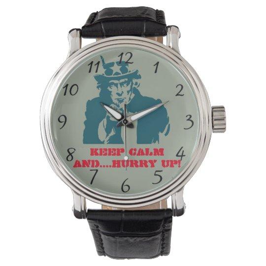 Uncle Sam keep calm Wristwatch