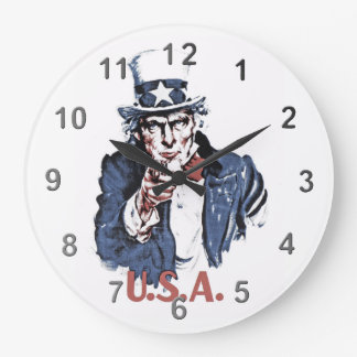 Uncle Sam Large Clock